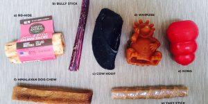 selection of dog chews