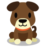 Happy brown dog cartoon