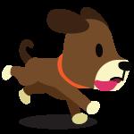 Happy brown puppy cartoon